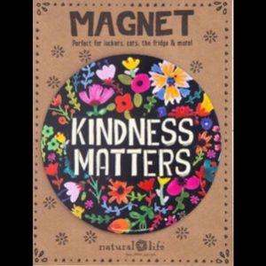 Natural Life Car Magnet Kindness Matters Floral